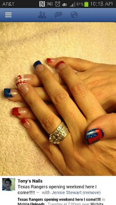 My Texas Rangers nails