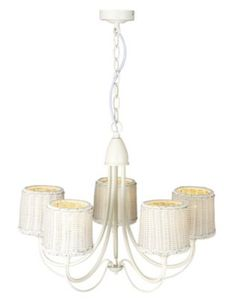 Alona Rattan Effect 5 Light Pendant, 5052931177059