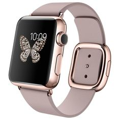 38mm 18-Karat Rose Gold Case with Rose Gray Modern Buckle ($17,000) ❤ liked on Polyvore featuring jewelry, watches, accessories, bracelets, technology, 18 karat gold watches, rose gold wrist watch, polish jewelry, pink gold jewelry and grey watches