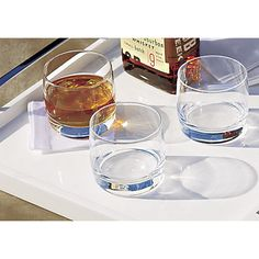 cooper double old fashioned glasses from CB2