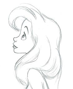 little mermaid profile.... notice how far out the hair goes.