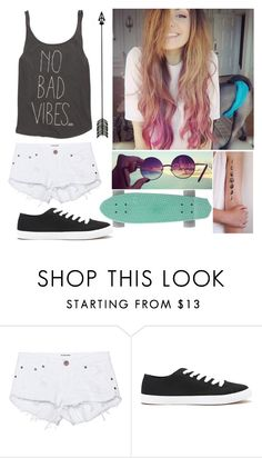 """""""I dont know...Penny boarding maybe?"""" by rendringz ❤ liked on Polyvore featuring One Teaspoon, Forever 21 and Billabong"""