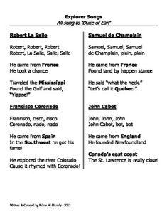 Week John Cabot Explorer Simple Text Biography - Map of us explorers coronado la salle