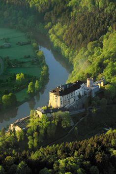 Český Šternberk Castle by the Sázava River, Czech Republic