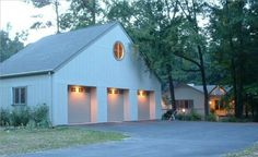 Garage and pavilion - contemporary - garage and shed - raleigh - Distinctive Architecture