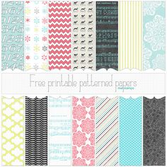 free printable Christmas paper set #2 preview by melstampz, via Flickr