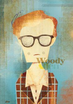 Woody Allen illustration by Adam Quest :: via adamquest.blogspo...