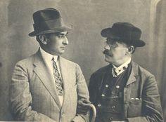I.L.Caragiale şi Alexandru Davila în anul 1910
