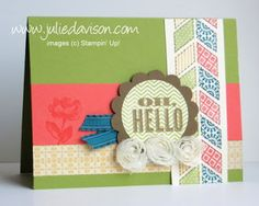 1 of 3 cards for my January Stamp of the Month Club using Stampin' up! Oh Hello stamp set from Spring Catalog