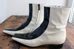 Rare Black/White Mod Fendi Booties by LadyalaMode on Etsy, $275.00