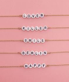 Armband mit Buchstabenperlen - Wald Berlin