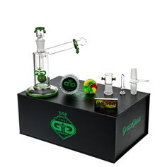 Grace Glass GG Sidecar Vapor Bubbler with Dome Perc | Green - Complete Set