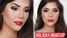 Holiday Glam Makeup Tutorial   Winged Liner, Brown Eyes & Red Lips – Makeup Project