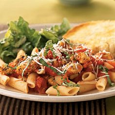 Penne and Chicken Tenderloins with Spiced Tomato Sauce | MyRecipes.com