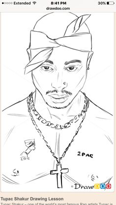How To Draw Tupac Shakur Famous Singers