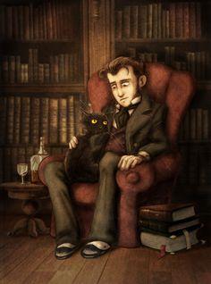 The black cat by alan edgar poe?