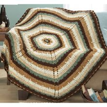 Herrschners Northern Shores Throw - another color scheme for the hexagon throw