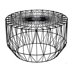 Havana Geometric Wire Coffee Table - Black | Milan Direct