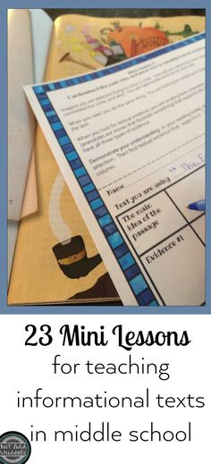 Students need lots of practice interacting with informational texts.  These 23 mini lessons can be used all year long with any text.  Ready to print and use to strengthen nonfiction reading skills for intermediate and middle school students.