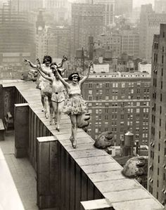 """Huh. Apparently rooftop dancing was """"a thing"""" in the 1920s. Rooftop Ballet, 1924."""