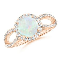 Angara Floating Cabochon Opal and Diamond Halo Antique Style Ring in Platinum mGZbZLQ7M