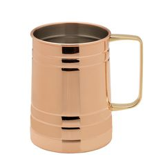Towle® Living Modernist Copper Plated Barrel Mug Copper Top Table, Personalized Beer Mugs, Copper Moscow Mule Mugs, Copper Handles, Old Fashioned Glass, Drinking Glass, Mugs Set, Barrel, Plating