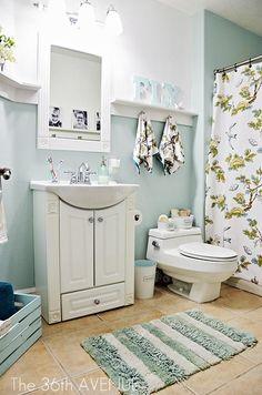 Bathroom Makeover and design tips. Loving the blue...♥ the36thavenue.com