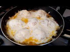 Nikdy som nejedol vajcia také chutné! Jednoduché a ľahké na prípravu! # 152 - YouTube Egg Recipes For Breakfast, Vegetarian Breakfast, Hard Boiled Egg Recipes, Omelettes, Homemade Cleaning Products, Egg Dish, How To Cook Eggs, World Recipes, Desert Recipes
