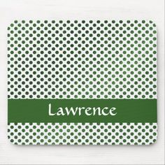 Custom name green dots pattern mouse pad Green Dot, Business Supplies, Kids Shop, Dots, Store, Pattern, Tent, Shop Local, Larger