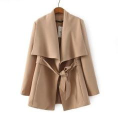 Hight quality winter coat women warm Khaki wool coat