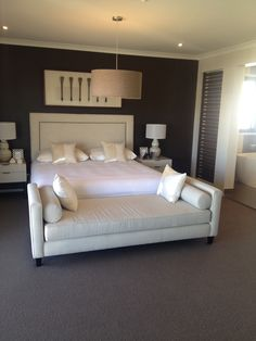 Daybed at the end of a Queen bed...my future married bedroom! From Plantation homes display, Northlakes, QLD.