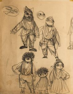 Jiří Trnka - Figures, pencil, paper