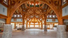 timber frame commercial Wedding Pavilion project