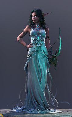 Tyrande Whisperwind by Elfa da Lua Fantasy Girl, Fantasy Warrior, Fantasy Women, World Of Warcraft, Warcraft Art, Fantasy Characters, Female Characters, Character Inspiration, Character Art