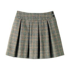 [LUAR] Plaid Tuck Skirt 2012 Fall/Winter Ladies' Collection ($37) ❤ liked on Polyvore featuring skirts, bottoms, plaid skirt, black knee length skirt, tartan skirt, black plaid skirt and black skirt