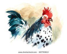 """Résultat de recherche d'images pour """"rooster watercolor paintings"""""""