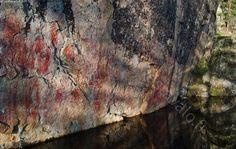Rock painting in värikallio Hossa, north Finland