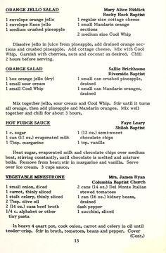 Jello Recipes, Old Recipes, Vintage Recipes, Cookbook Recipes, Sauce Recipes, Dessert Recipes, Cooking Recipes, Orange Jello Salads, Salads