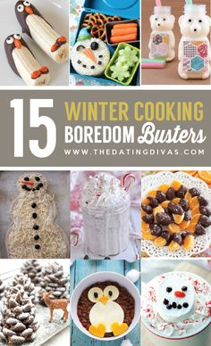 Cook with the kiddos this winter to keep them busy. These ideas are so cute! www.TheDatingDivas.com
