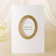 Gold Foil Simple Victorian Wedding Invitation - SW 5042   ItsInvitation