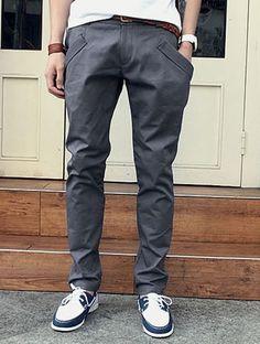 I found 'Grey Cotton Slim Korean Fashion Men Pockets Long Harem Pants 1618-SK35g' on Wish, check it out!
