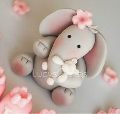 elephant christening birthday cake topper holding teddy | Flickr - Photo Sharing!