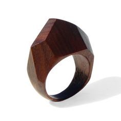 GEM - Palissander wood Ring OOAK Wooden Rings, Wooden Jewelry, Diy Jewelry, Jewelry Rings, Jewelry Design, Mens Jewellery, Gold Jewelry, Gold Necklace, Wood Crafts