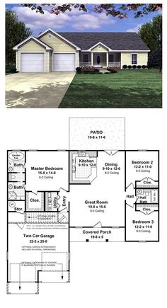 Small low cost economical 2 bedroom 2 bath 1200 sq ft for Separate garage cost