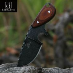 "HOT PRICES FROM ALI - Buy ""DAOMACHEN tactical hunting knife outdoors camping survive knives multi diving tool & Stone wash blade Free fast shipping"" from category ""Tools"" for only USD. Cool Knives, Knives And Tools, Knives And Swords, Survival Tools, Survival Knife, Tactical Survival, Urban Survival, Skinning Knife, Outdoor Knife"