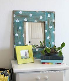 Make a Polka Dot Mirror