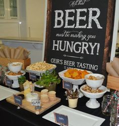 Beer food station