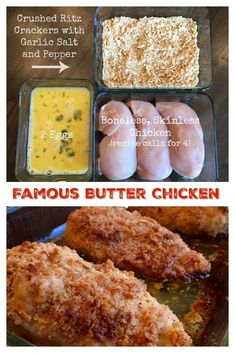 chicken recipes Today's share is a fantastic tried and true recipe - Famous Butter Chicken (aka, Ritz Cracker Chicken)! The name suits the recipe, This is the BEST baked chicken recipe Best Baked Chicken Recipe, Yummy Chicken Recipes, Healthy Chicken, Chicken Strip Recipes, Chicken Marinade Recipes, Ritz Crackers, Ritz Cracker Chicken, Ritz Cracker Recipes, Tasty