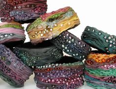 Bangles | Alyson G Designs.  Silk and gemstones.