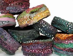 Bangles | Alyson G Designs.  Silk and gemstones.